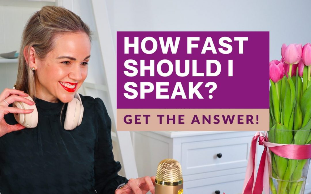 how fast should you speak